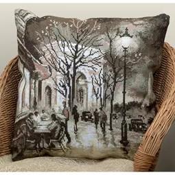 Nocturnal Lights of Paris Pillow