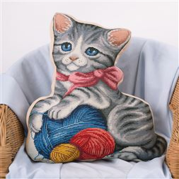 Kitten & Wool Pillow