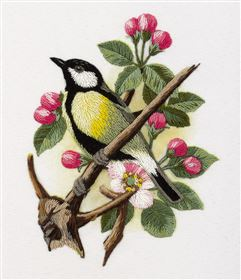 Great-Tit on a Branch